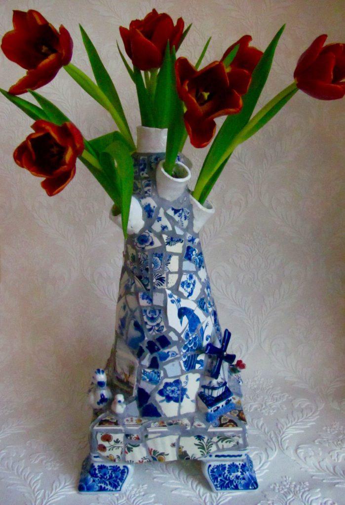 Vaas Marianne Den Hartog Tulpen Delfts Blauw