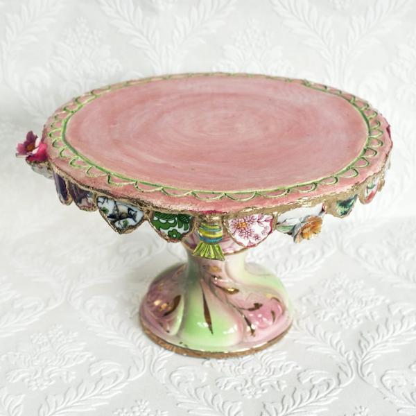 Taartplateau rose - Atelier Marianne den Hartog