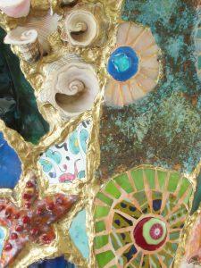 Marianne den Hartog - Vaas detail - Bij elkaar gevist - Werken met geoxideerd koper