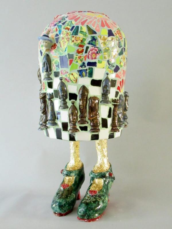 Marianne den Hartog - Vaas - Benen van bladgoud