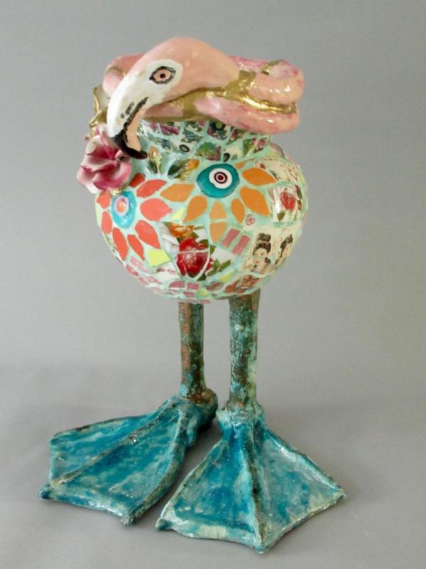 Marianne den Hartog - Vaas Flamingo