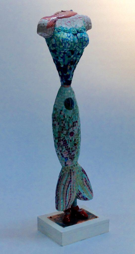 """Het beeld """"Viswijf"""" van Marianne den Hartog is anoniem gekozen voor de Zomerexpo 2017. De grootste Nederlandse kunsttentoonstelling van 25 Mei t/m 20 Augustus. Museum de Fundatie te Zwolle."""