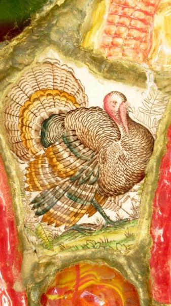 Detail Vaas Marianne den Hartog - Zo trots als een pauw